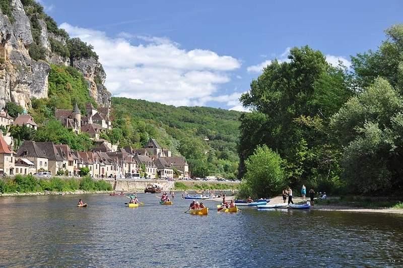 La Dordogne, fleuve.